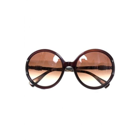 Lanvin Paris Sunglasses Oval Detail In Black ❤ liked on Polyvore