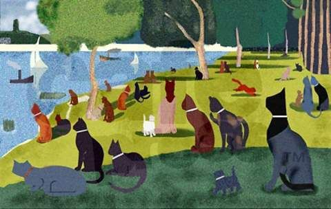 Cats (Art lesson idea: Change a famous work of art into your own!):