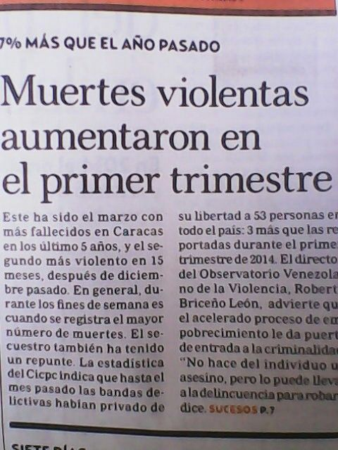 Criminalidad en Venezuela 2015