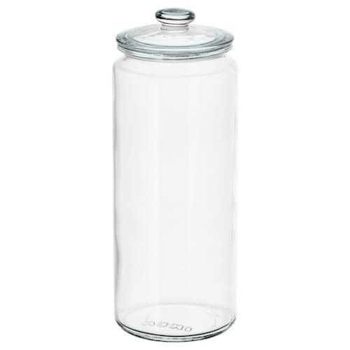 Ikea 365 Dry Food Jar With Lid Clear White Length 7 Width 3 Volume 2 Qt Find It Here Ikea In 2020 Food Storage Organization Jar Food Storage