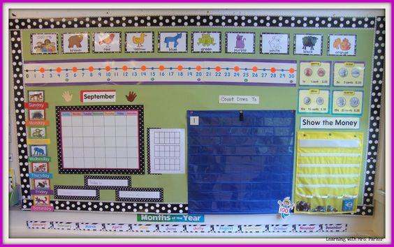 Learning With Mrs. Parker: back to school  Love the polka dots. What a great teaching board.