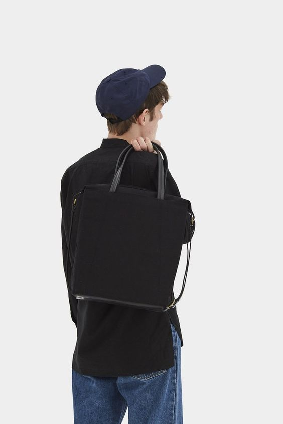 Trapeze Tote Bag Black