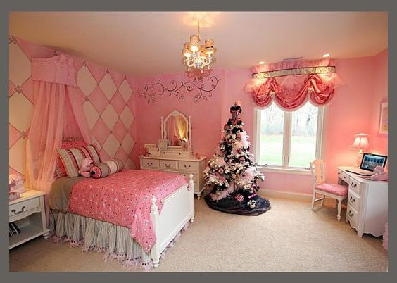 Adorable! Princess room for toddler