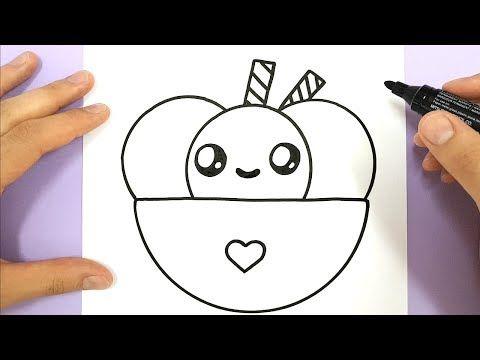 Wie Zeichnet Man Ein Niedliches Eis Youtube Idees De Dessin
