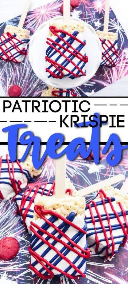 Patriotic Rice Krispie Treats