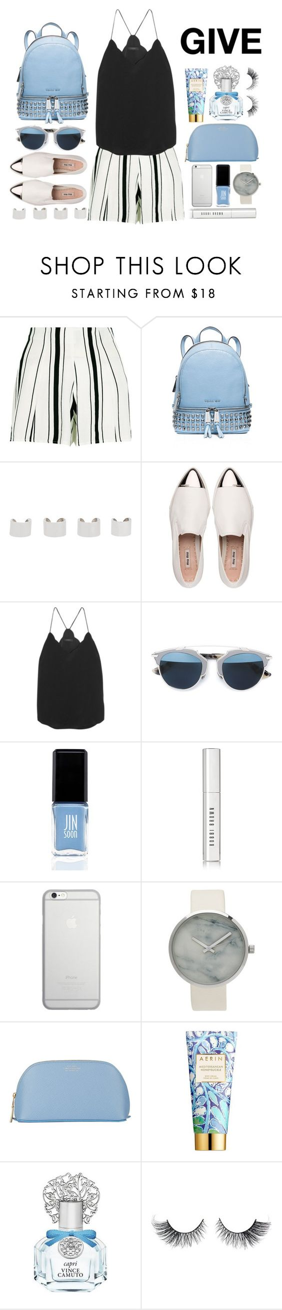 """GIVE"" by perilousness-fashion ❤ liked on Polyvore featuring New Look, MICHAEL Michael Kors, Maison Margiela, Miu Miu, J.Crew, Christian Dior, JINsoon, Bobbi Brown Cosmetics, Native Union and Smythson"