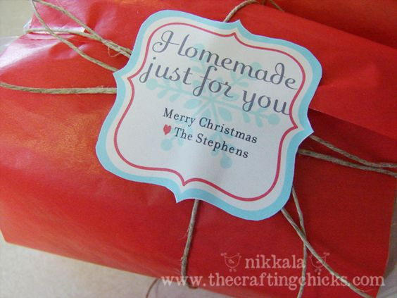 Homemade Christmas Tags