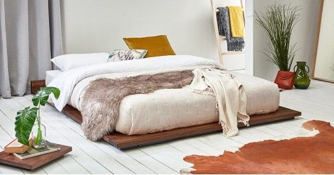Low Modern Attic Bed Low Bed Frame Minimalist Bed Wooden Bed