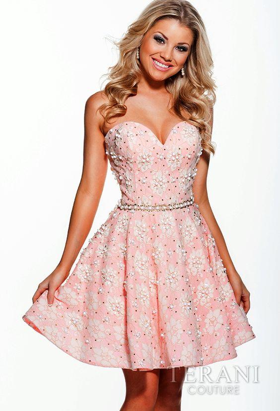 TERANI Couture for HomecomingsEvening Dresses3639Feminine Flirt!