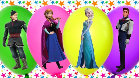 Learn Colours Balloons | Frozen Elsa & Anna | Fun and Creative for Kids