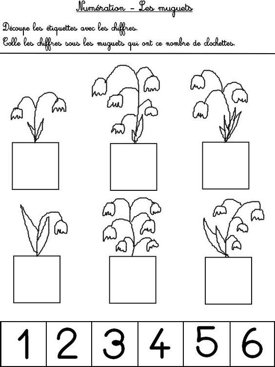 jeu imprimer activites maternelle printemps num ration compte les clochettes du muguet 1. Black Bedroom Furniture Sets. Home Design Ideas
