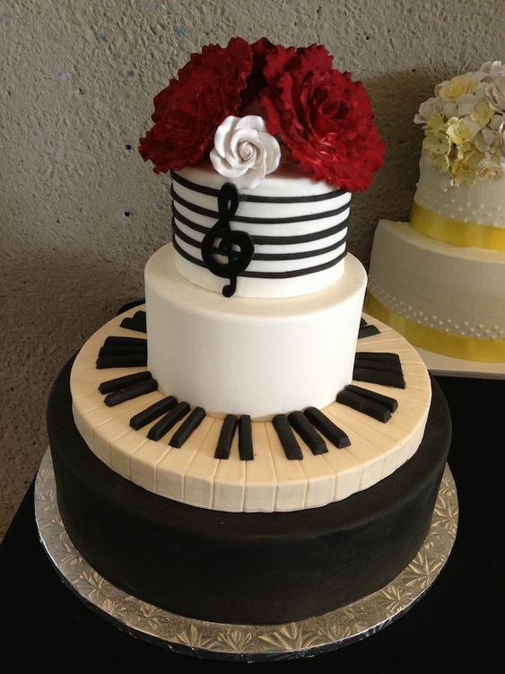 Music Theme Wedding Cake Nashvllle Great Design The