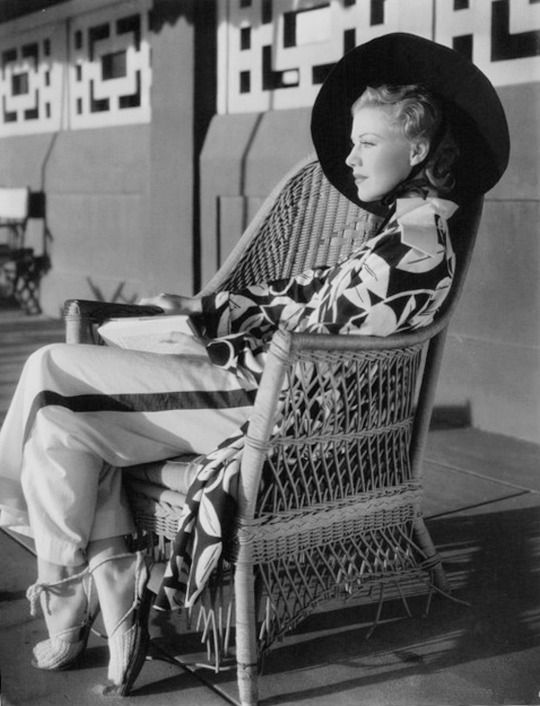 Ginger Rogers photographed on the set of The Gay Divorcee, 1934: