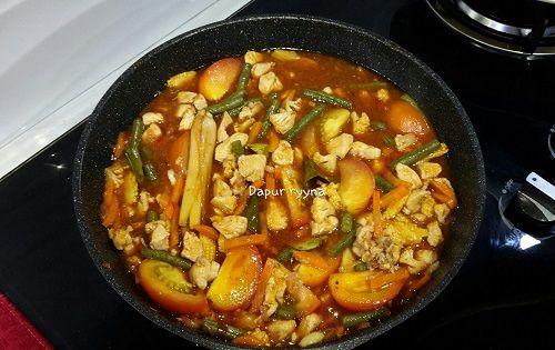 Resepi Paprik Ayam Thai Terangkat Ayam Isi Masakan Resep