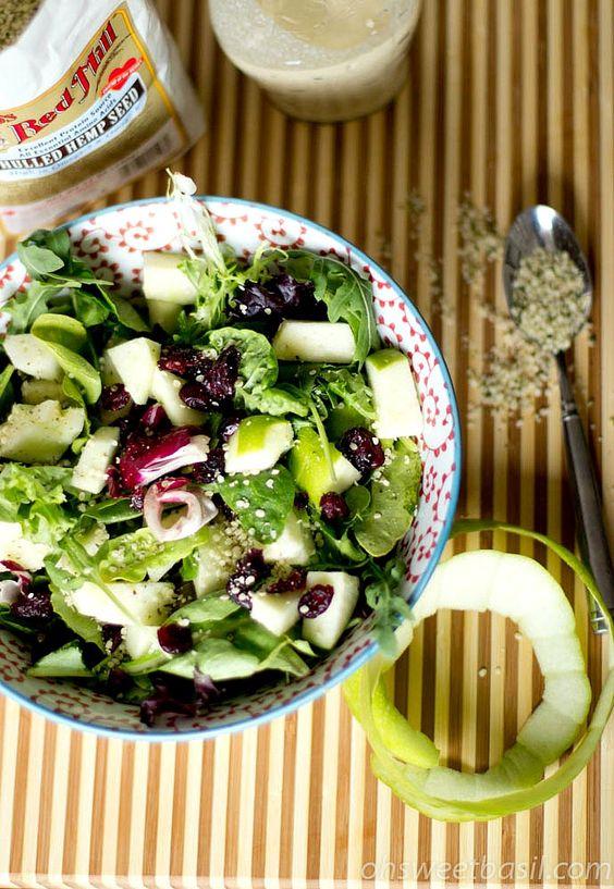Hulled Hemp Seed Salad w/ Apple Dressing   Recipe   Posts ...