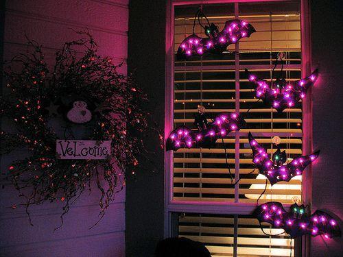Bat lights for Halloween Decor<3<3