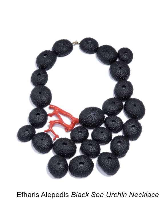 UNCLASPED - Efharis Alepedis - Black sea urchin necklace: