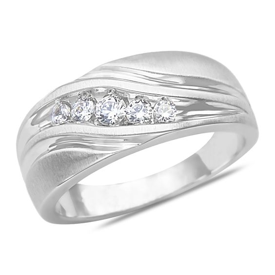Ebay NissoniJewelry presents - Men's 1/4CT Diamond Wedding Band in 10k White Gold with a Cage Back    Model Number:GR9655E-W077    http://www.ebay.com/itm/Men-s-1-4CT-Diamond-Wedding-Band-in-10k-White-Gold-with-a-Cage-Back/221630481572