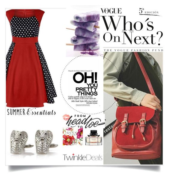 """""""Red for the win!!"""" by amra-f ❤ liked on Polyvore featuring vintage, reddress and twinkledeals"""