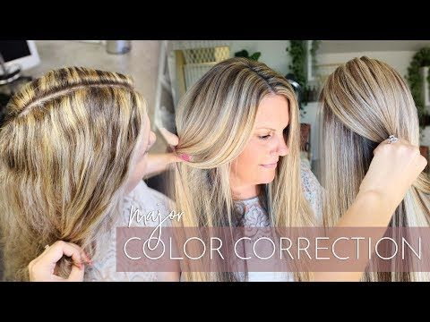 Blonde Highlights Gone Wrong Major Color Correction How