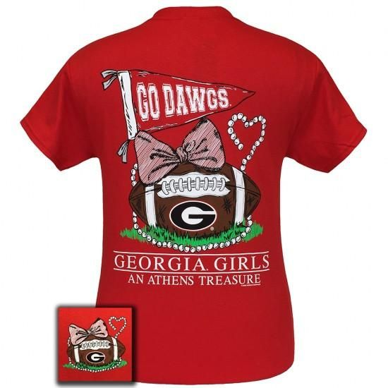 Georgia Anchor Bow Tie T Shirt Uga Girl S T Shirt Georgia T