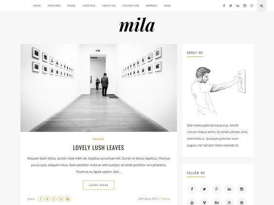 Mila   Blog & Shop Theme with Forum by khalilthemes on @creativemarket