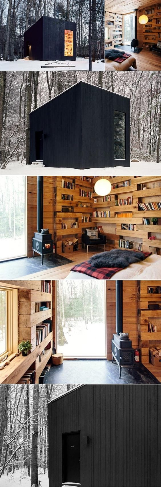 Studio padron cabin for the upstate new york and new york for Upstate new york cabin