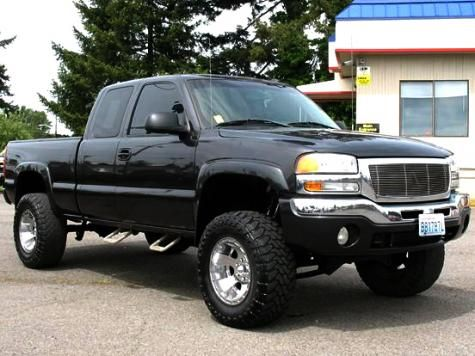 2003 GMC Sierra K1500 SLT Extended Cab 4x4 lifted truck