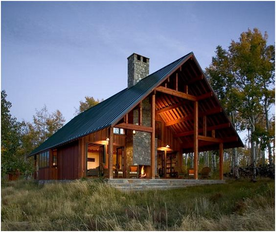 Our weekend cabin would look like this... except it would be built with reclaimed wood