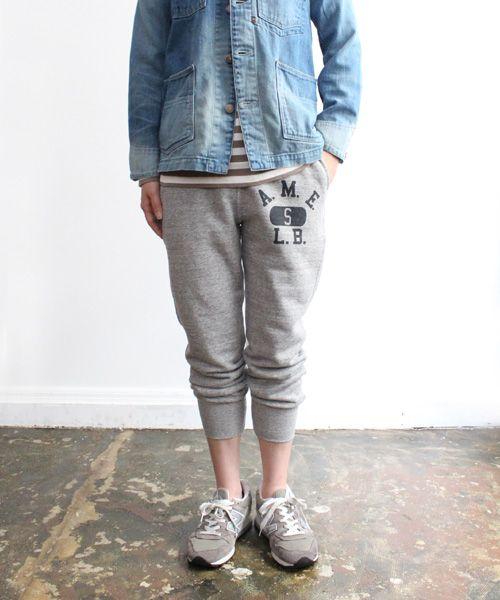denim jacket and sweat pants