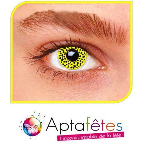 Lentilles fantaisie guépard jaune – Accessoire deguisement