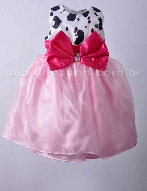 Vestido Infantil de Festa Fazendinha Rosa - confira outros modelos no site: http://anagiovanna.com.br/produtos/1/vestidos-infantil/15/fazendinha