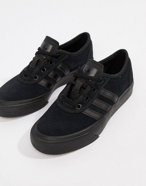 to buy competitive price official shop adidas Skateboarding Adi-Ease Trainers In Triple Black in ...