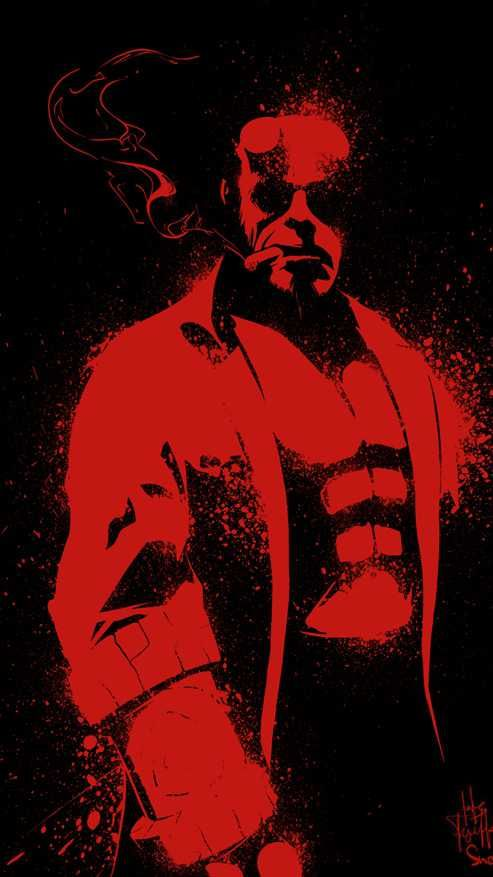 Red Hellboy Iphone Wallpaper Hellboy Wallpaper Comic Art Hellboy Art