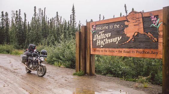 riding a motorcycle 11,000 miles into the Alaskan Arctic