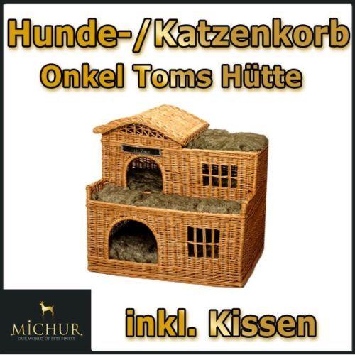 Michur Onkel Toms Hütte Hunde Haus Hundebett Hunde Korb Weide ca. 68x48x75cm   eBay