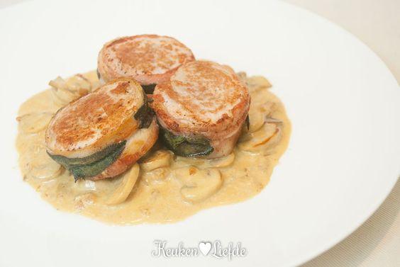 Spijs & Wijn: saliemedaillons met champignonroomsaus