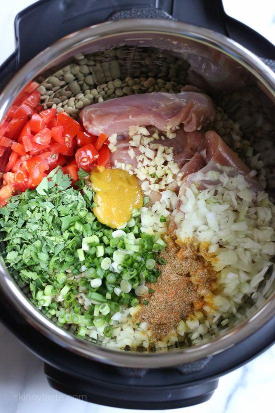 Instant Pot (Pressure Cooker) Chicken and Lentil Soup