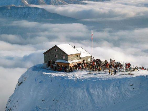Cabane des Violettes, Crans Montana, Switzerland.