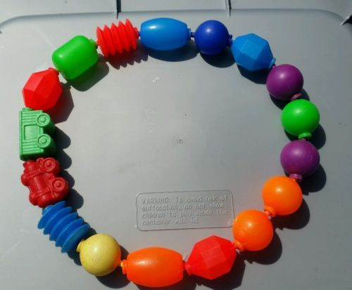 17 Vintage Fisher Price Pop And Lock Busy Beads Baby Toy