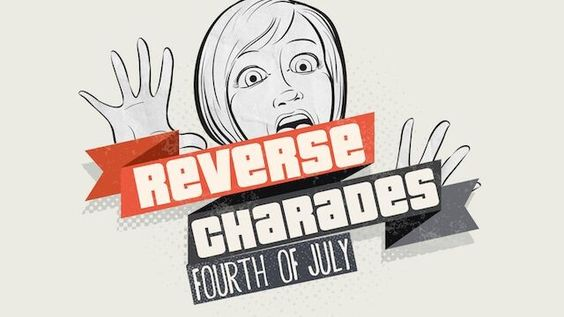 Reverse Charades - July Fourth  Reverse Charade games make perfect countdown filler. In fact, we've included a version where the bottom left-hand corner has a place to put a countdown clock from your presentation software! We'll usually have one or two students come up on stage to be the contestants. We make them face the audience and make sure they don't see the screen (optional: get some heavy-duty ear-muffs from the hardware store for about $15 so your contestants can't hear). The goal is…