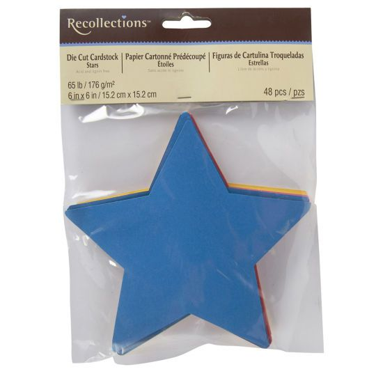 Recollections die cut cardstock stars shape scrapbook for How to cut a perfect star