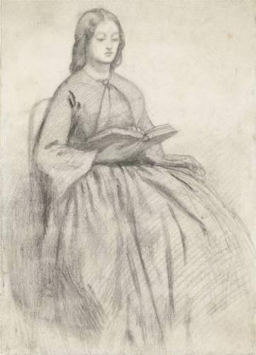 Elizabeth Siddall in a Chair - Dante Gabriel Rossetti