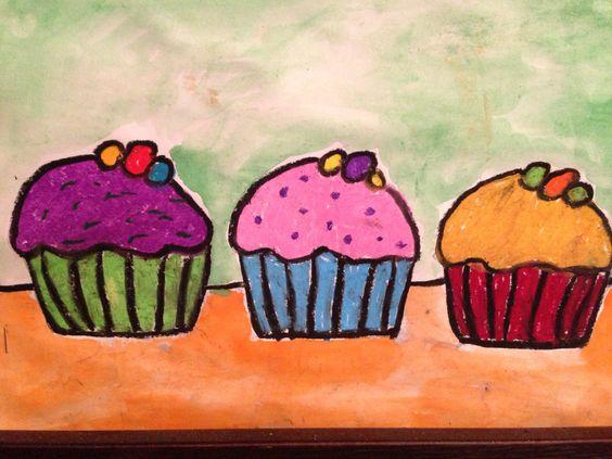 Cupcake Art Lesson : Wayne Thiebaud Cupcake Art Project... Lizzy s Art Class ...