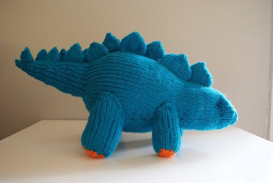 Mini Dinosaur Knitting Pattern : DIY Knitting PATTERN - Stegosaurus Dinosaur Stuffed Animal (18