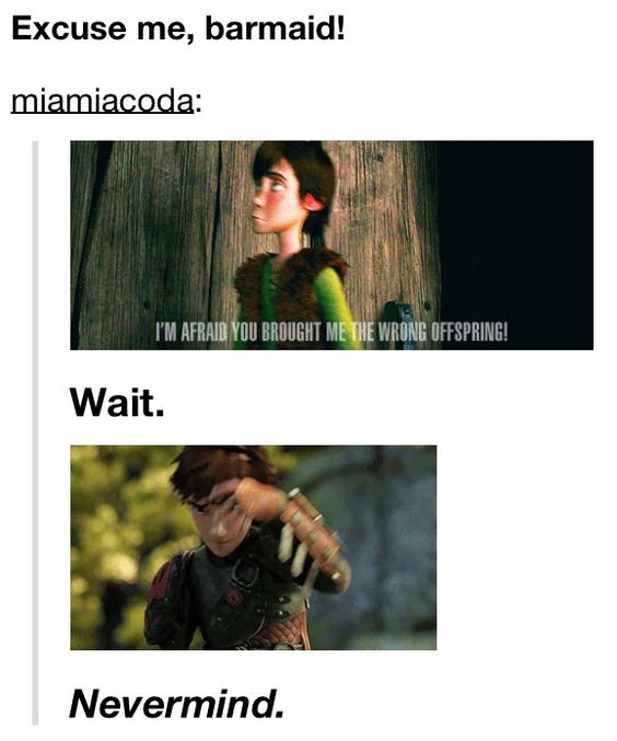 """""""Sorry guys, I apparently took a screenshot of this at the awkwardest frame for Little Hiccup (but it kinda makes it funnier, so..)"""""""