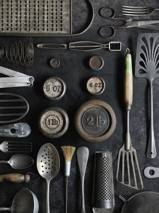 Vintage tools and cutlery