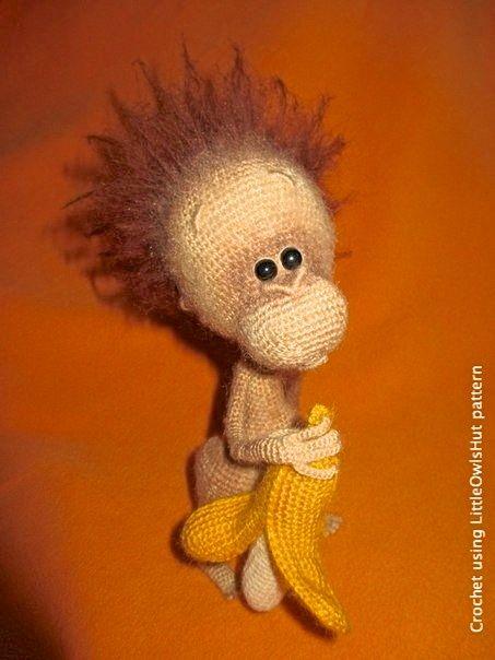 084 Baby monkey - Amigurumi Crochet Pattern PDF file by ...
