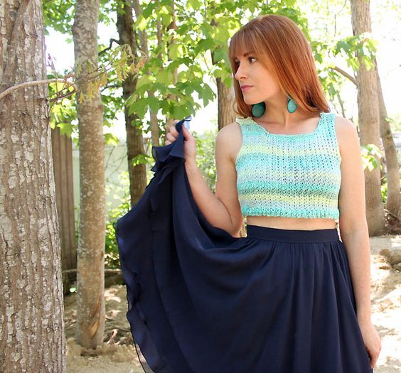 Crop Top Knitting Pattern Free : Pinterest the world s catalog of ideas