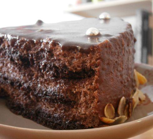 Entremets chocolat, chocolat et chocolat // sans gluten sans lactose